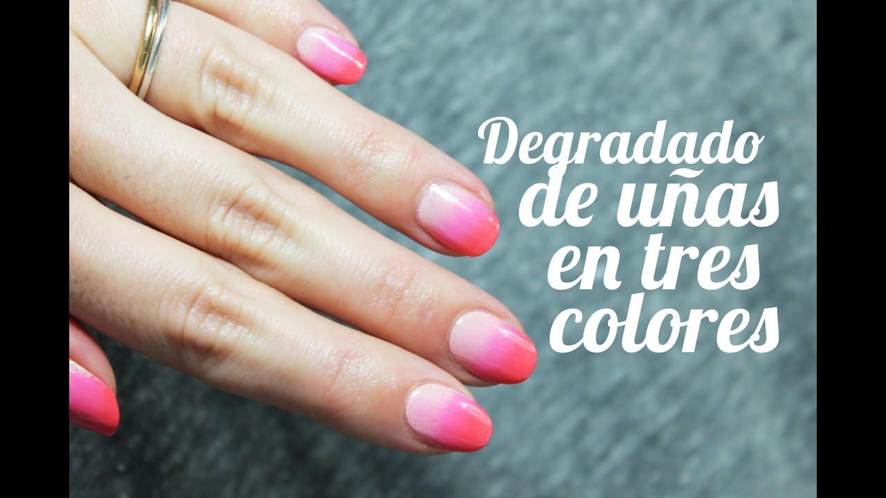 Cómo hacer un degradado en las uñas paso a paso con tres colores ...