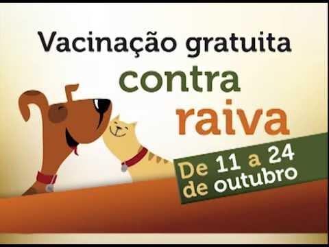 Campanha de Vacinação contra a raiva em cães e gatos - 2014