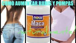 Repeat youtube video Cómo Aumentar Nalgas y Bubis Naturalmente con Maca / Maca Root for Bigger Butt and Boobs