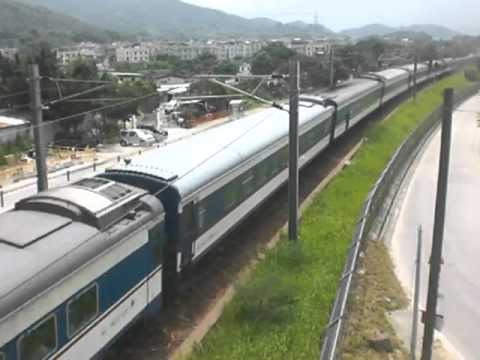{ICTT} SS8 0186 haul T808 through train pass Kau Lung Hang