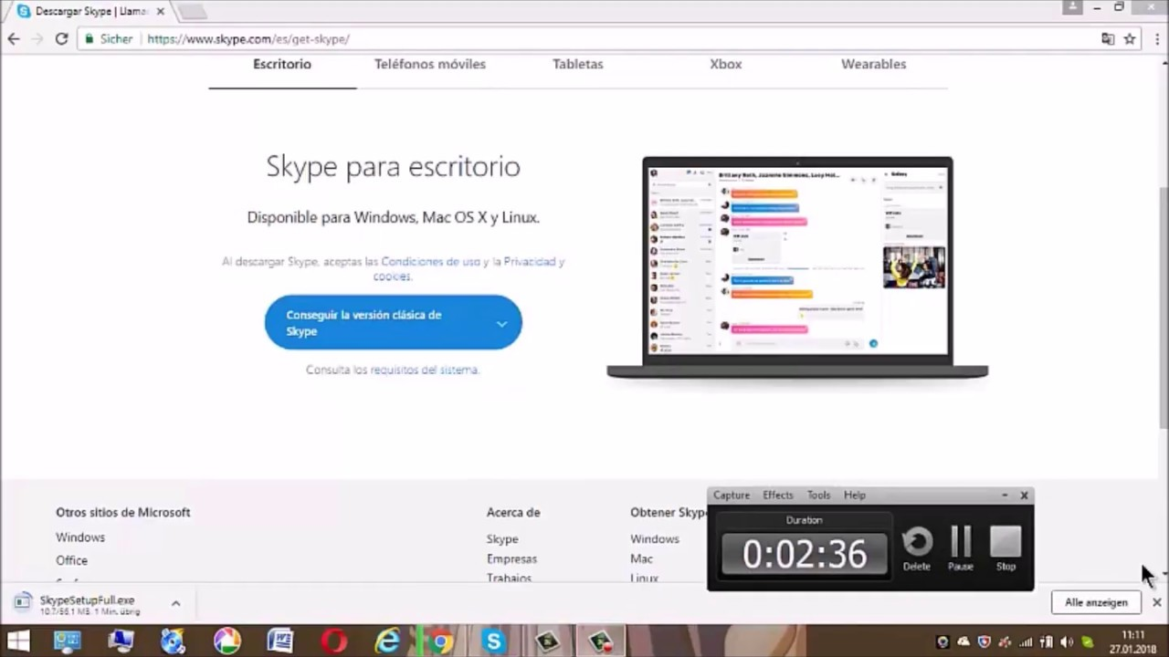 descargar skype gratis para pc windows 7 ultimate