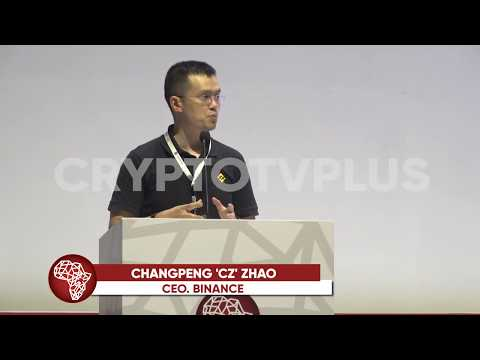 Changpeng 'CZ' Zhao, CEO of Binance Speaking at the Africa Blockchain Conference