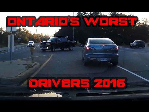 Ontario's Worst Driver's Dash Cam  Footage 2017