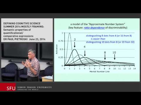 "Defining Cognitive Science | Paul Pietroski: Semantic framing, the meaning of ""most"""
