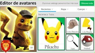 WE CREATE DETECTIVE PIKACHU'S PROFILE in ROBLOX DETECTIVE PIKACHU ROBLOX PROFILE LEON PICARON