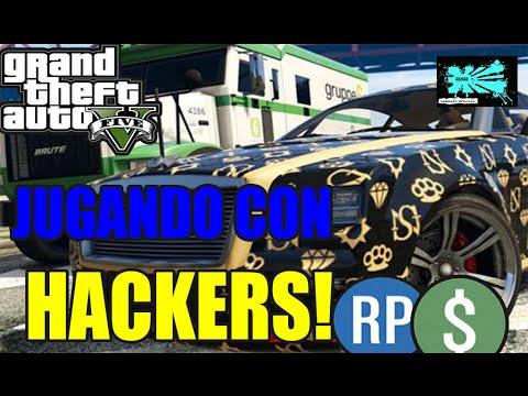 JUGANDO CON HACKERS! - GTA V   LOBBY DE DINERO! (CREW SANGUINARIOS)