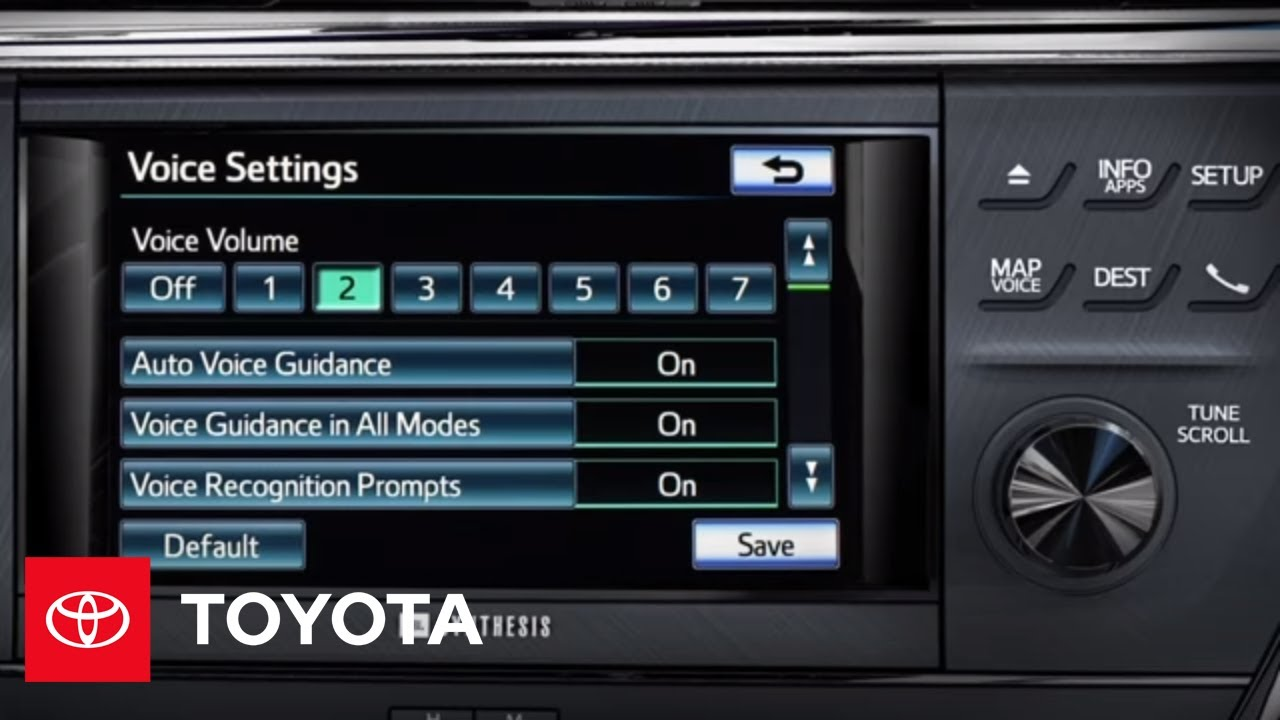 2013 Avalon How-To: Premium HDD Navigation - Adjust the Voice Guidance  Volume   Toyota