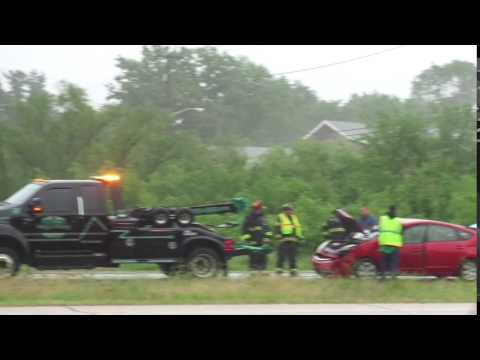 Crash with semi and car in North Terre Haute