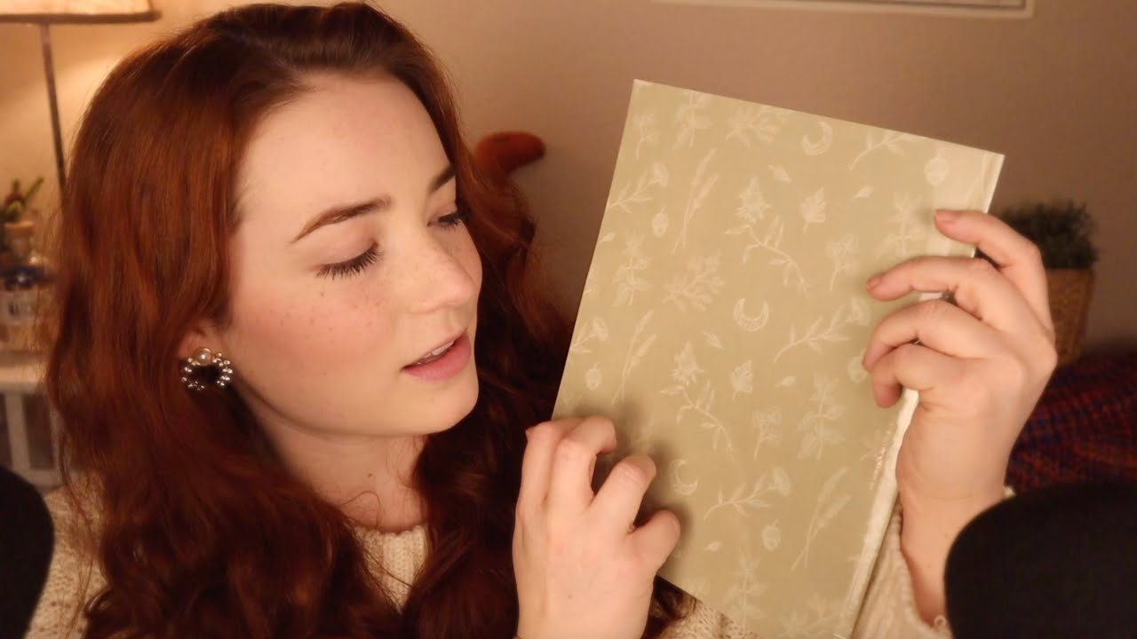 ASMR Book Tapping & Tracing (Close Whispers)