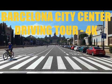 BARCELONA CITY CENTER DRIVING TOUR - 4K 🚖