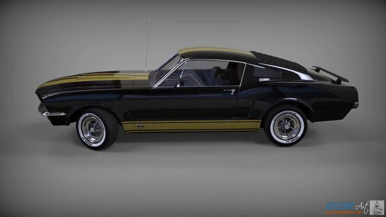 ford mustang 1960 turntable render youtube. Black Bedroom Furniture Sets. Home Design Ideas