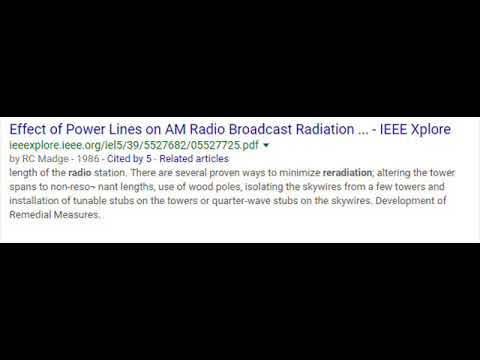 AM Broadcast Signal Powerline Reradiation