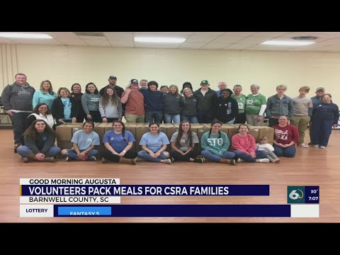 Barnwell County Career Center FFA, volunteers help pack meals for less fortunate