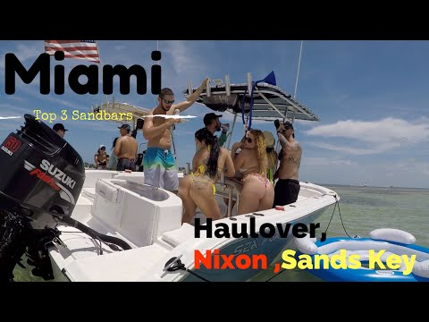Miami's Three Top SandBars in One Days Trip