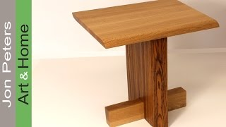 Build A Modern Stool With Zebrawood And White Oak By Jon Peters