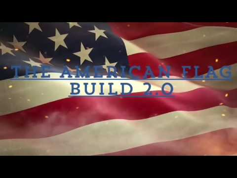 Wooden American Flag Build 2.0 - A Step By Step Tutorial With Unique Mitered Corners