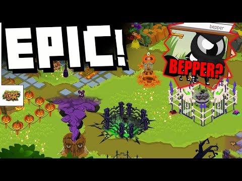 The Epic Spooky Den + Unboxing Bepper? Animal Jam Den Decoration