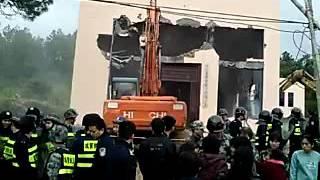 福建福清玉林教堂被强拆2016年1月6日-1