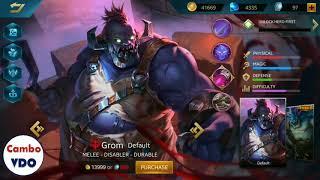 """New Hero & Skin """" Grom """"   Heroes Evolved"""