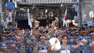 【大阪 天神祭/令和元年(2019)】7/25(木)[4K]☆境内~陸渡御列 出発!
