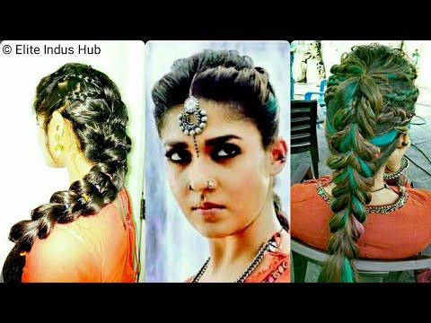 hair french style nayanthara hairstyle in kashmora pull through 5274 | hqdefault