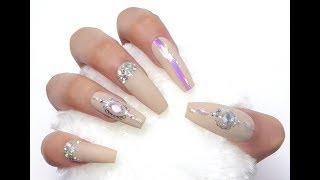 Nude Jewelry Nails at ESZakka.etsy.com