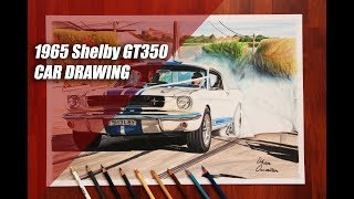 1965 Ford Mustang SHELBY GT350 BURNOUT 🔥 | Australia | Muscle V8 Car Drawing