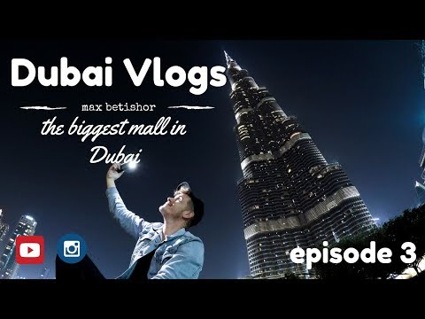 Vlogging in the biggest mall in Dubai with a Gopro