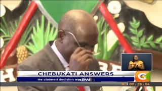Chebukati: Chiloba is lying