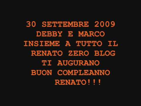 Renato Zero Buon Compleanno   YouTube