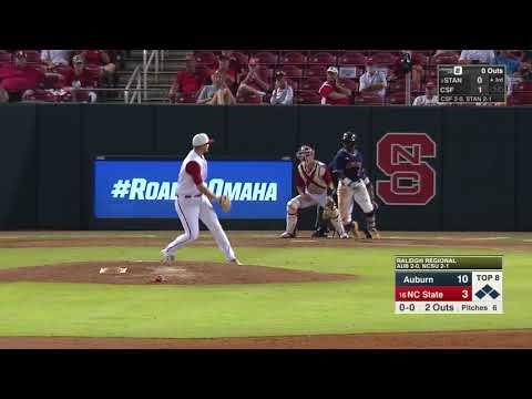 Auburn Baseball vs NC State NCAA Regional Highlights