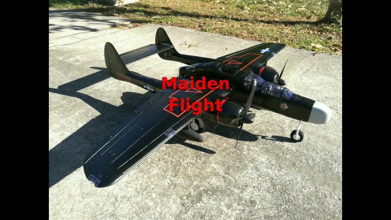 Maiden Flight: Dynam 1500mm P-61 BlackWidow