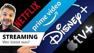 Streaming Dienste im Vergleich: NETFLIX vs Prime Video vs Disney+ vs Apple TV+