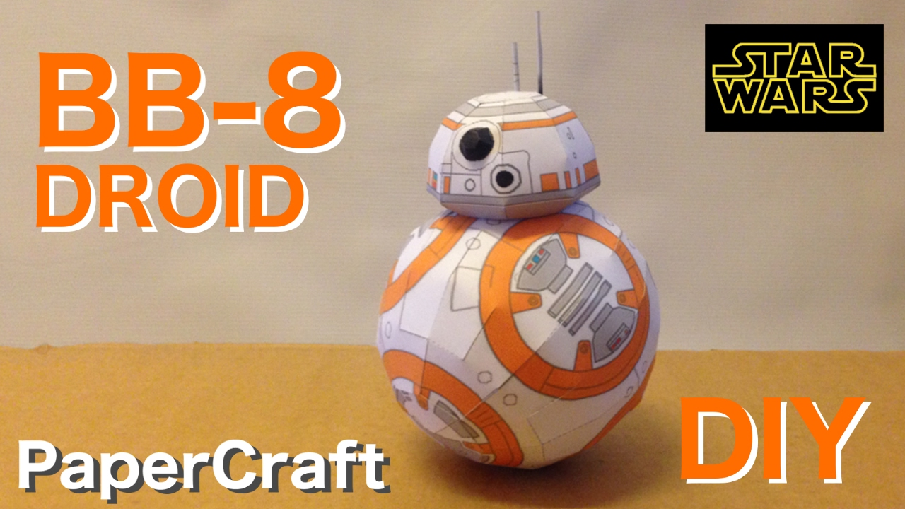 Papercraft How to make BB-8 Droid from Starwars - Papercraft.