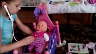 Играем с куклой Baby Born/Видео для девочек