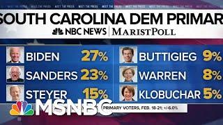 NBC News/Marist SC poll: Biden Narrowly Leads Sanders Ahead Of SC Primary | MTP Daily | MSNBC