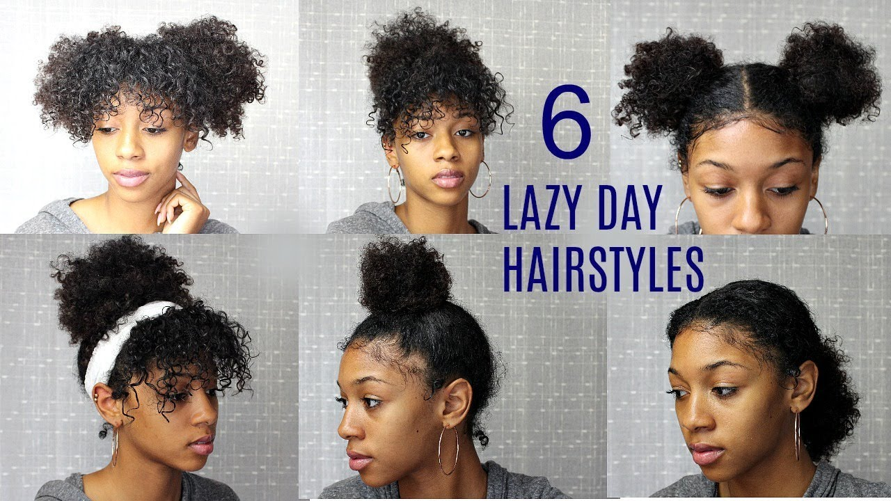 6 Messy Cute Hairstyles For Lazy Days Back To School Edition Natural Curly Hair