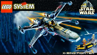 lego star wars x wing fighter 7140 stop motion speed build