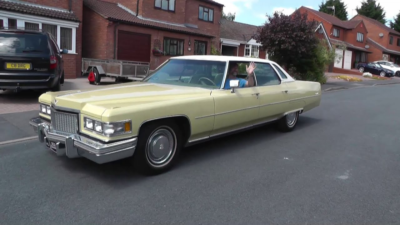 1975 Cadillac Sedan Deville 8200cc V8 - YouTube