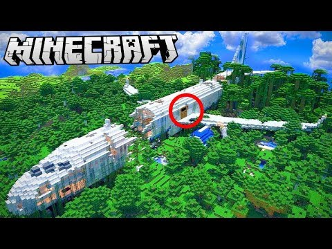 Giant HOUSE INSIDE A PLANE In Minecraft