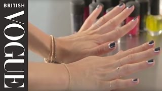 How to do a Floating Manicure | Vogue Beauty School | British Vogue