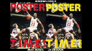 "MICHAEL JORDAN ""POSTER TIME!"" (RARE DUNK HIGHLIGHTS)"