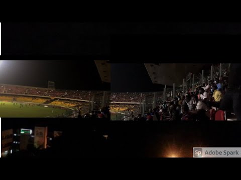 Darkness At Accra Sports Stadium As Floodlights Go Off During Hearts-Olympics Game