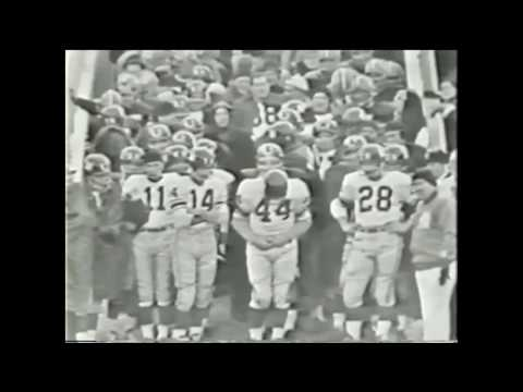 Packers vs Giants introduction 1961