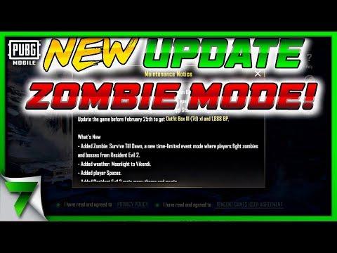 ZOMBIE UPDATE IS COMING!! HUGE NEWS | PUBG Mobile