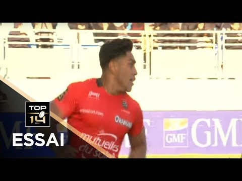 TOP 14 - Essai de Malakai FEKITOA (RCT) - Castres - Toulon - J11 - Saison 2017/2018