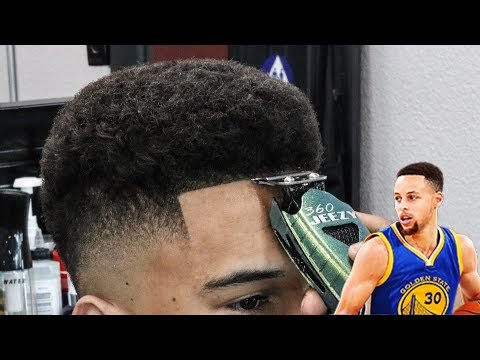 STEPH CURRY DROP FADE BARBER TUTORIAL