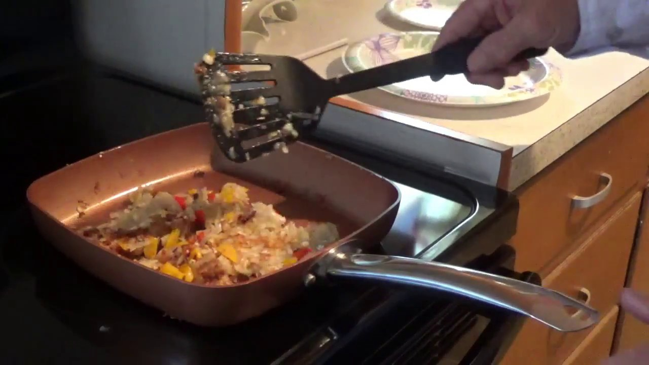 Copper Chef Square Pan Review And Home Made Hash Browns Youtube