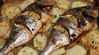 Cocina fácil - Dorada al horno - Baked fish