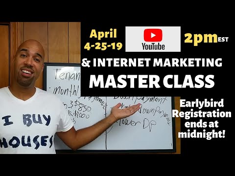 Outline for my YOUTUBE & INTERNET MARKETING Master Class,